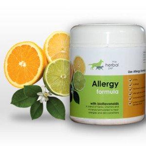 Herbal pet allergy formula