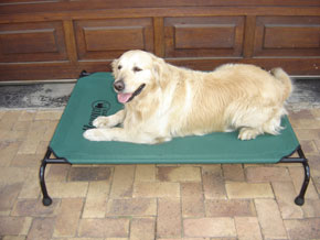 Hound Sleeper -A raised dog bed - keeping your dog off the cold ground, the Hound Sleeper provides a comfortable, hygienic environment for your dog to sleep.
